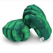 Величезні м'які рукавички у вигляді кулаків Халка. Великі зелені рукавички