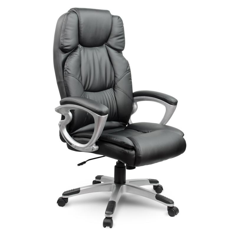 Кресло офисное AEGO 227. Цвет черный и коричневый.