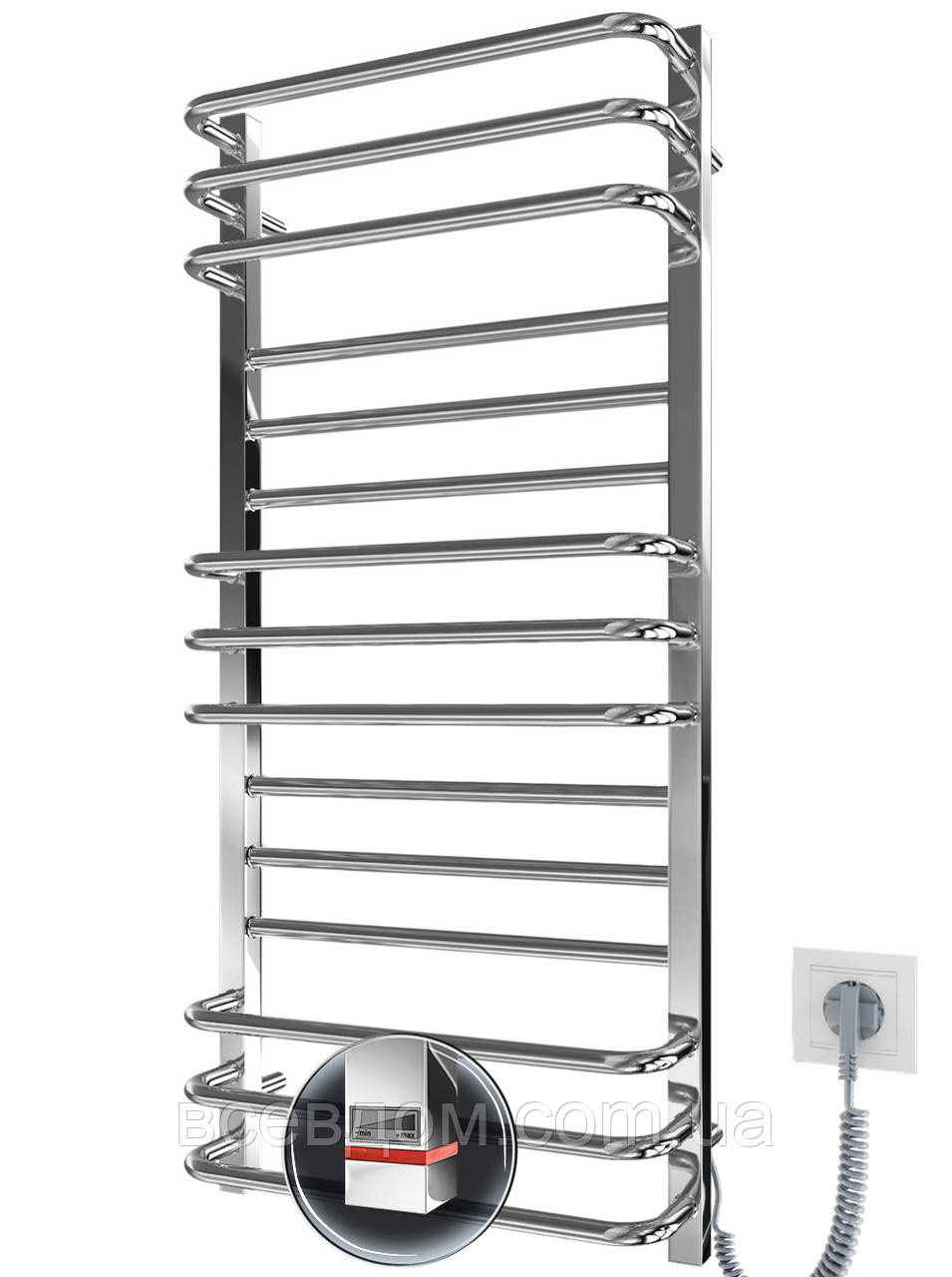 Электрический полотенцесушитель Премиум Люкс-I 1100x500