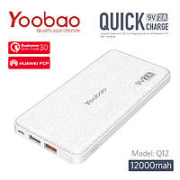 Power Bank Yoobao Q12 12000 mAh Quick Charge 3.0, фото 1