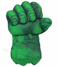 Огромные мягкие перчатки в виде кулаков Халка. Большие зеленые перчатки, фото 2