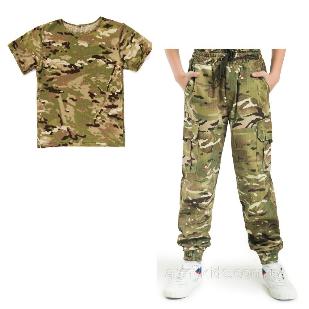 Детский камуфляж комплект футболка брюки СкаутMTP