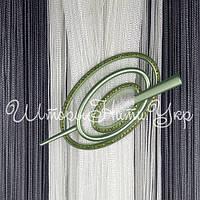 Заколка для штор нитей Овал Престиж №9 Оливковый
