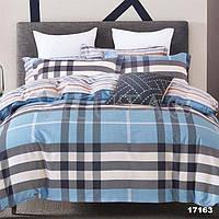 Двухспальный постельный комплект ранфорс Клеточка 17163, Viluta