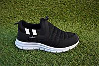 Детские мокасины кроссовки сетка Найк черные р31-35, копия, фото 1
