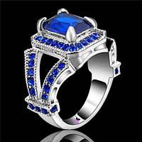 Большой солидный перстень с синим камнем