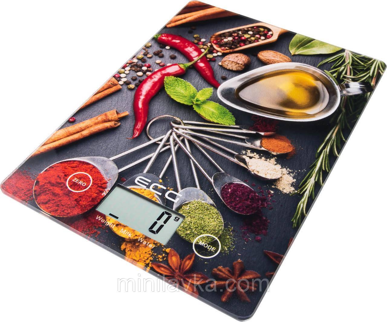 Весы кухонные ECG KV 117 SLIM chilli до 5 кг