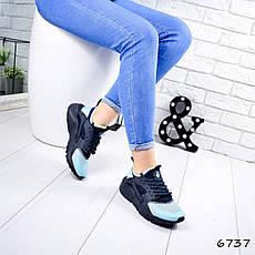 """ТОЛЬКО 36 И 37 РАЗМЕРЫ Кроссовки женские, сине-голубые в стиле """"Nike"""" текстиль, кеды женские, мокасины женские, фото 2"""