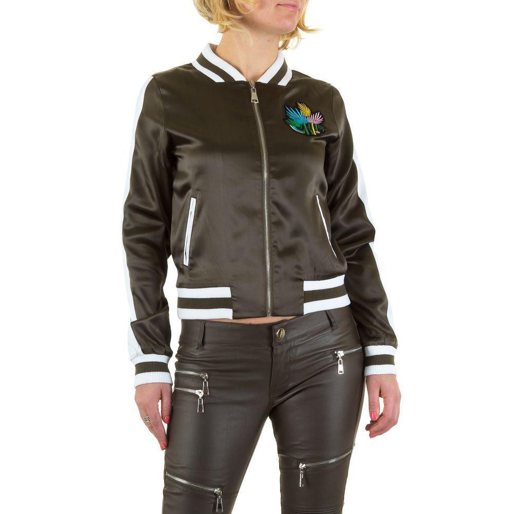 Куртка бомбер с лампасами Emma&Ashley Design (Европа), Хаки