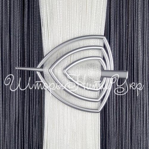 Заколка для штор нитей Треугольник №4 Серебро матовый