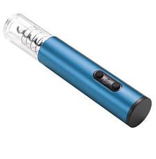 Электрический штопор на батарейках. Электроштопор для вина, синий, фото 3