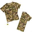 Детский камуфляж комплект футболка брюки кепка СкаутMTP, фото 4