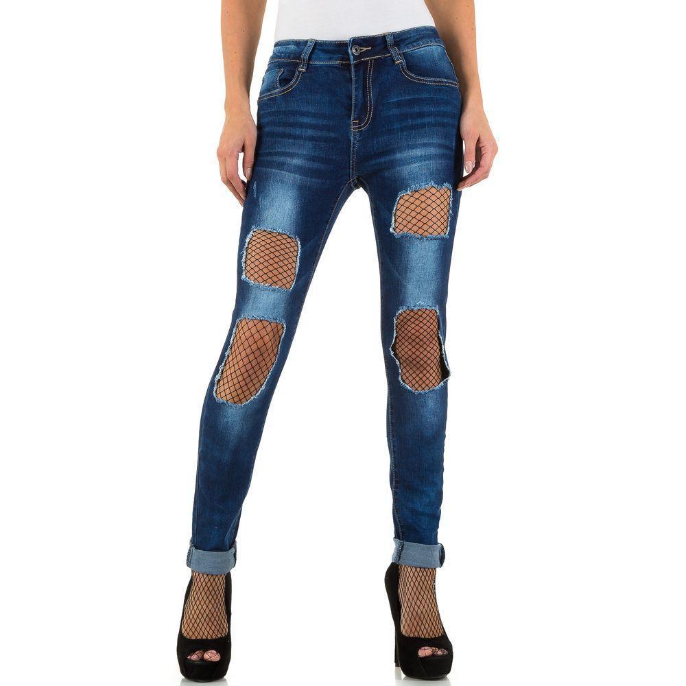 Женские джинсы Denim Life, размер S/36 - синий - KL-J-D801-blue S/36