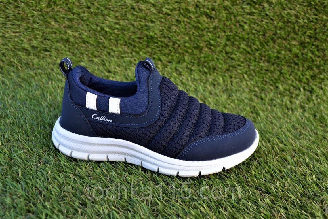Детские мокасины кроссовки сетка синие р31-35, копия, фото 1