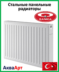 Стальной радиатор Sanica 11k 500*400 б.п.