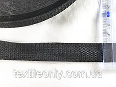 Тесьма  сумочная цвет черный 20 мм , фото 2