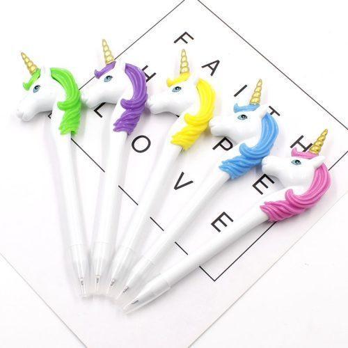 Кулькова ручка Єдиноріг (рожева, бузкова, блакитна)