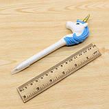 Кулькова ручка Єдиноріг (рожева, бузкова, блакитна), фото 3