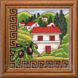 Леді Набор для вышивки крестом Оливки Греції 01277