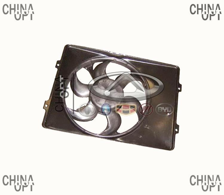 Дифузор радиатора, в сборе с вентилятором, Great Wall Deer [4X2, 2.2], 3759010-F00, Aftermarket