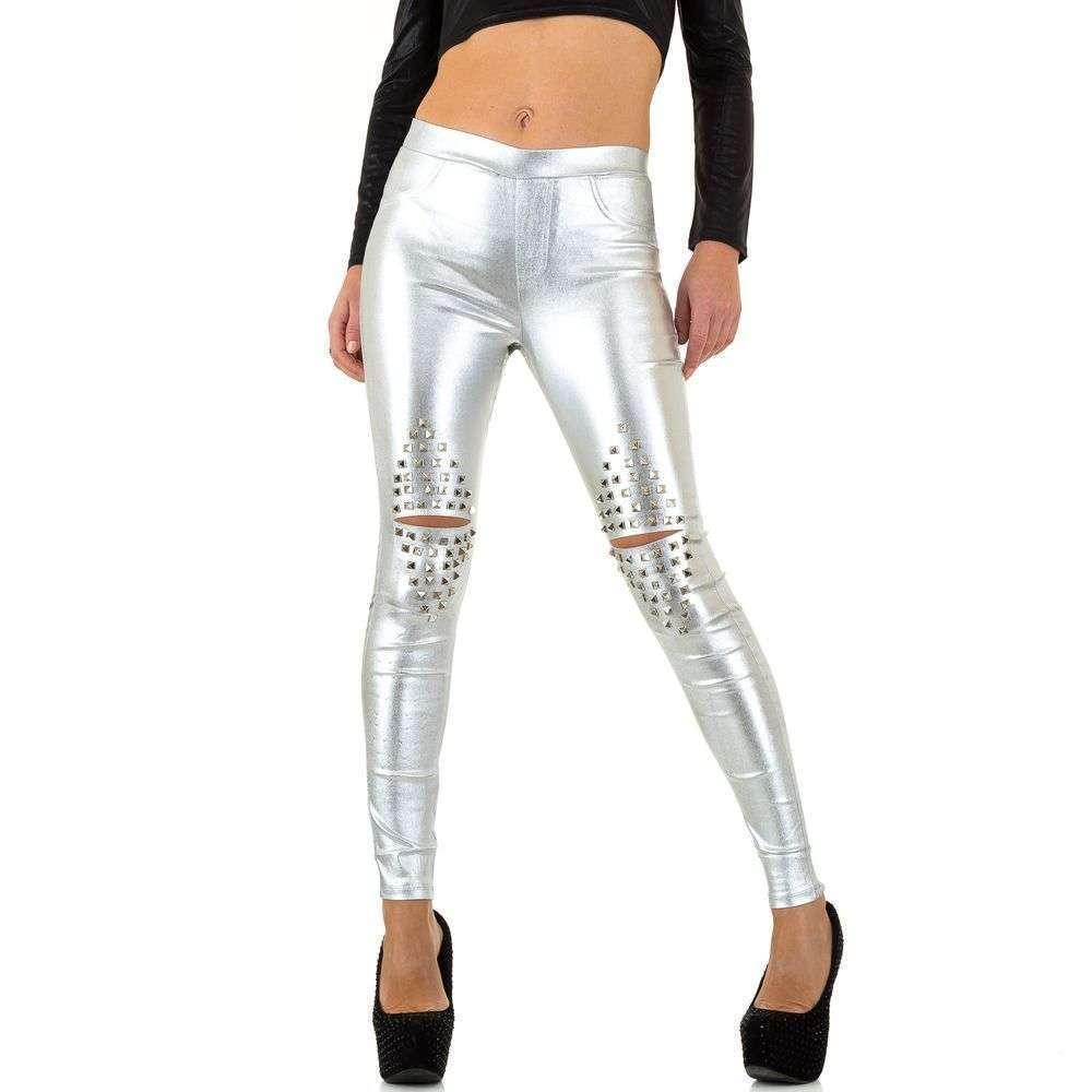 Женские брюки - silvery - KL-WJ-7562-silvery