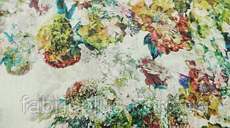 Жоржет  ткань (цветы фукси)