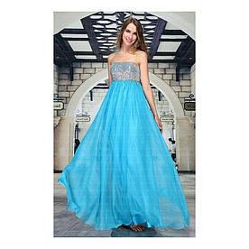 Женское платье от Festamo - бирюза - Мкл-F1992-бирюза