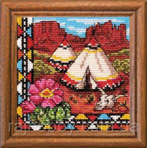 Леді Набор для вышивки крестом Індійський Вігвам 01279