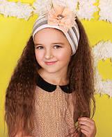 Повязка с цветами для девочек ЛОЙС оптом размер 50-52-54, фото 1