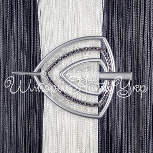 Заколка для штор нитей Треугольник Элит №4 Серебро матовый