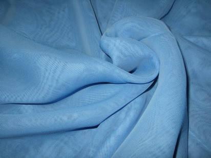 Шторный шифон Голубой, вуаль, фото 2