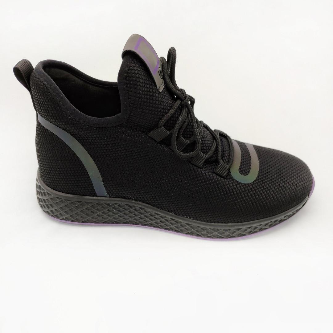 cd3420950 Кроссовки женские Chezoliny черные обувной текстиль 385 - Интернет-магазин  Lifemood в Днепре