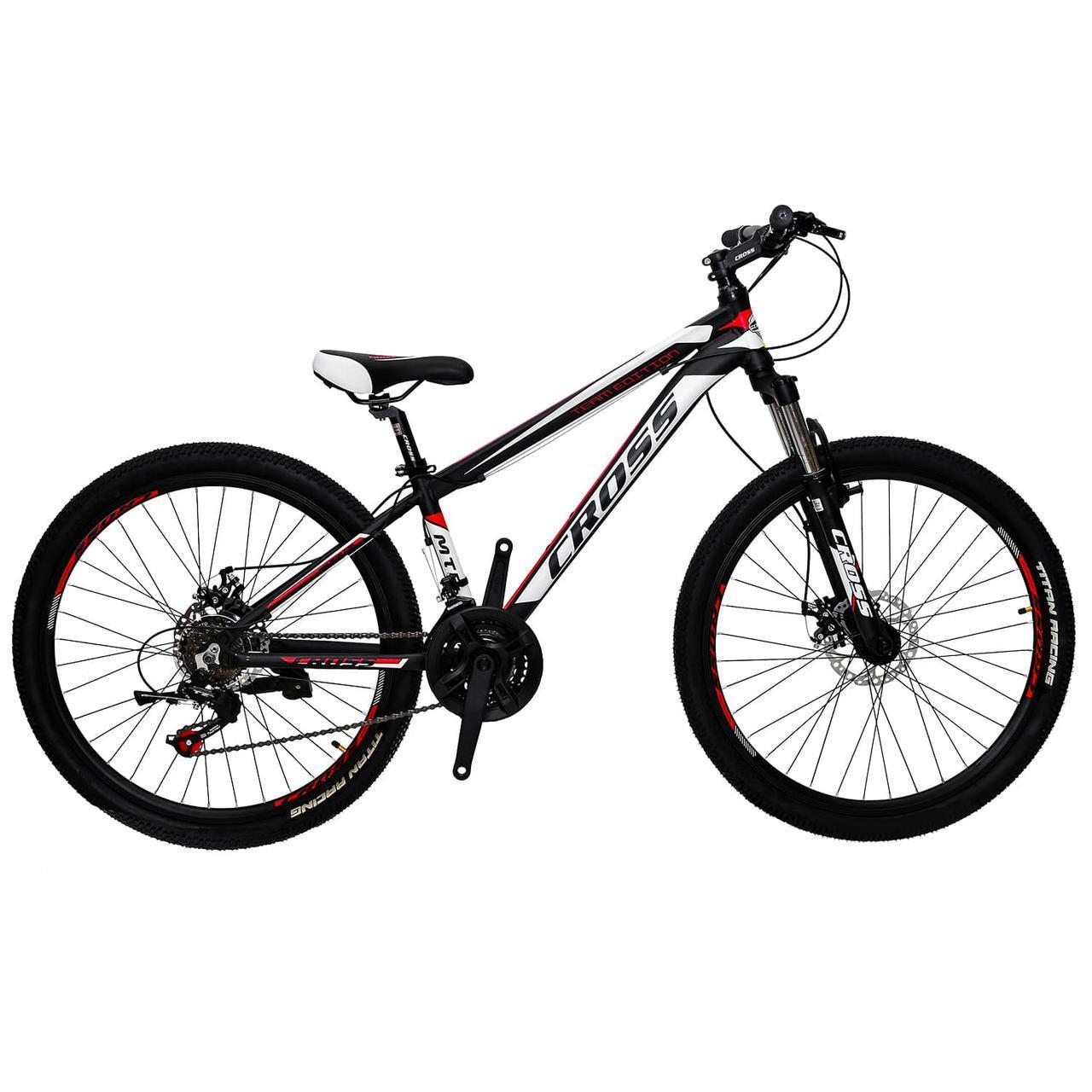 """Алюминиевый горный велосипед 26"""" CROSS HUNTER (21 speed, Lockout, Shimano)"""