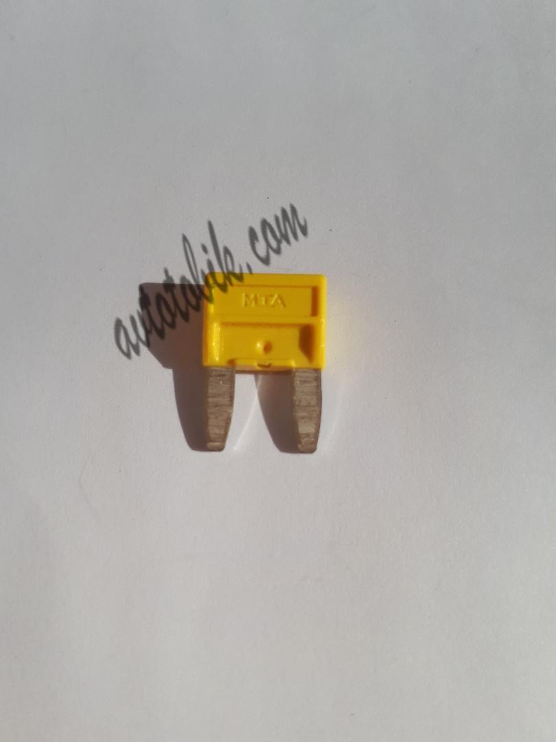 Предохранитель автомобильный MINI 20А желтый МТА (1 шт.)