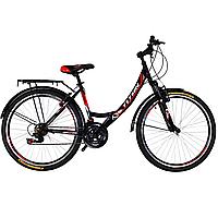 """Городской женский велосипед с багажником 26"""" TITAN ELITE (21 SP, Shimano, моноблок)"""