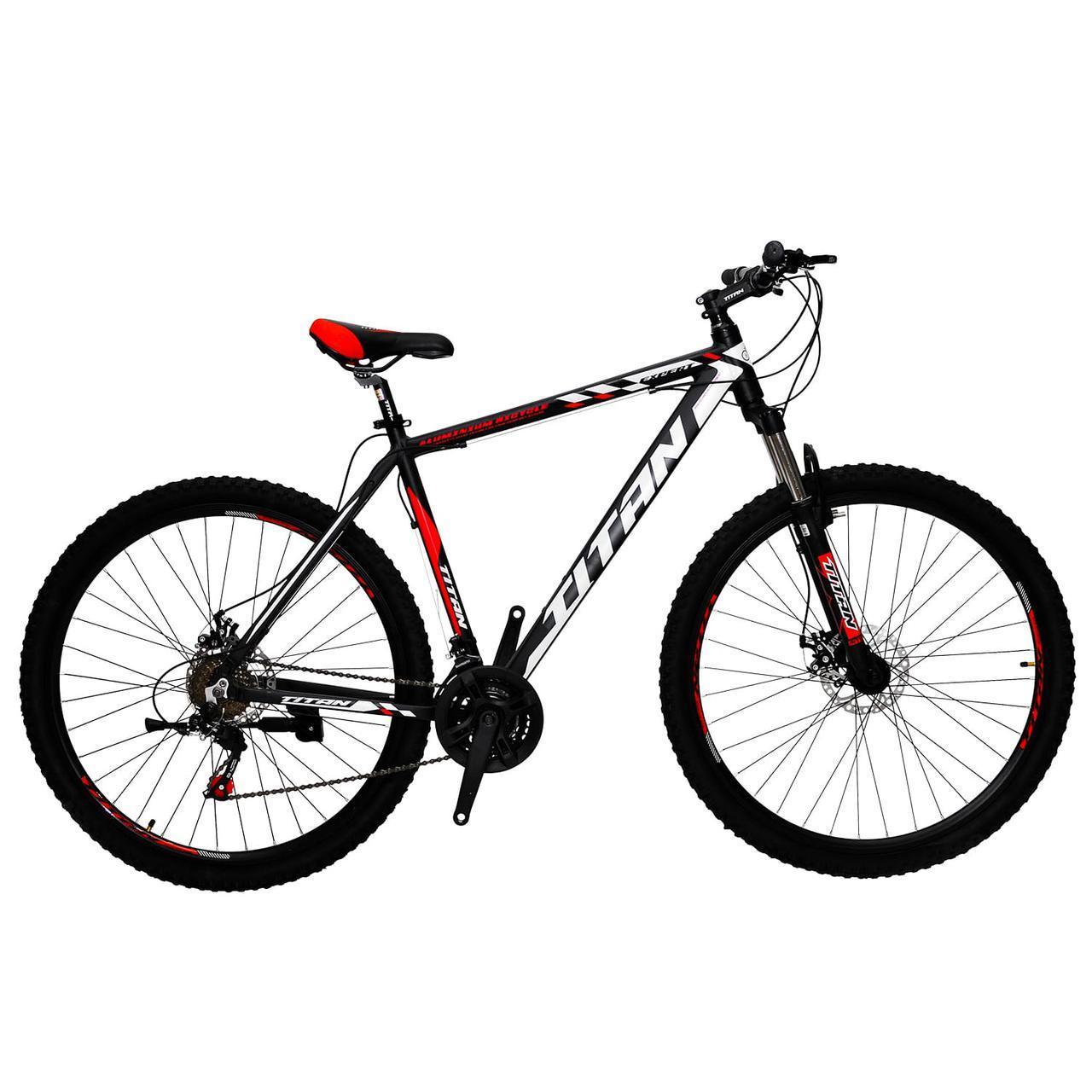 """Горный алюминиевый велосипед 29"""" TITAN EXPERT DD (Shimano, моноблок, Lockout)"""