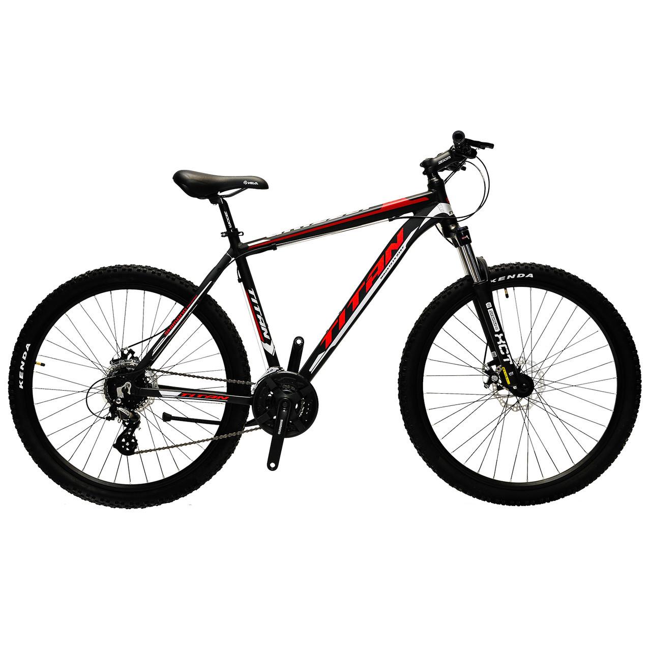 """Алюминиевый горный велосипед 27.5"""" TITAN GRIZZLY 2018 (Shimano, 24sp, Lockout)"""