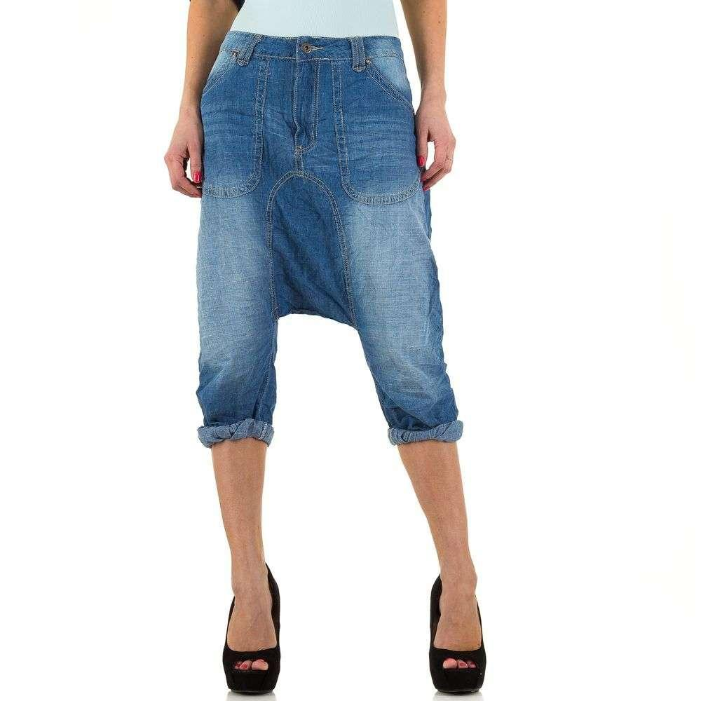 Женские джинсовые бриджи с мотней Place Du Jour (Франция), Синий