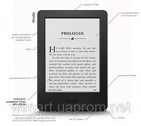 Электронная книга Amazon Kindle 6 Black (2016). Оригинальная коробка.