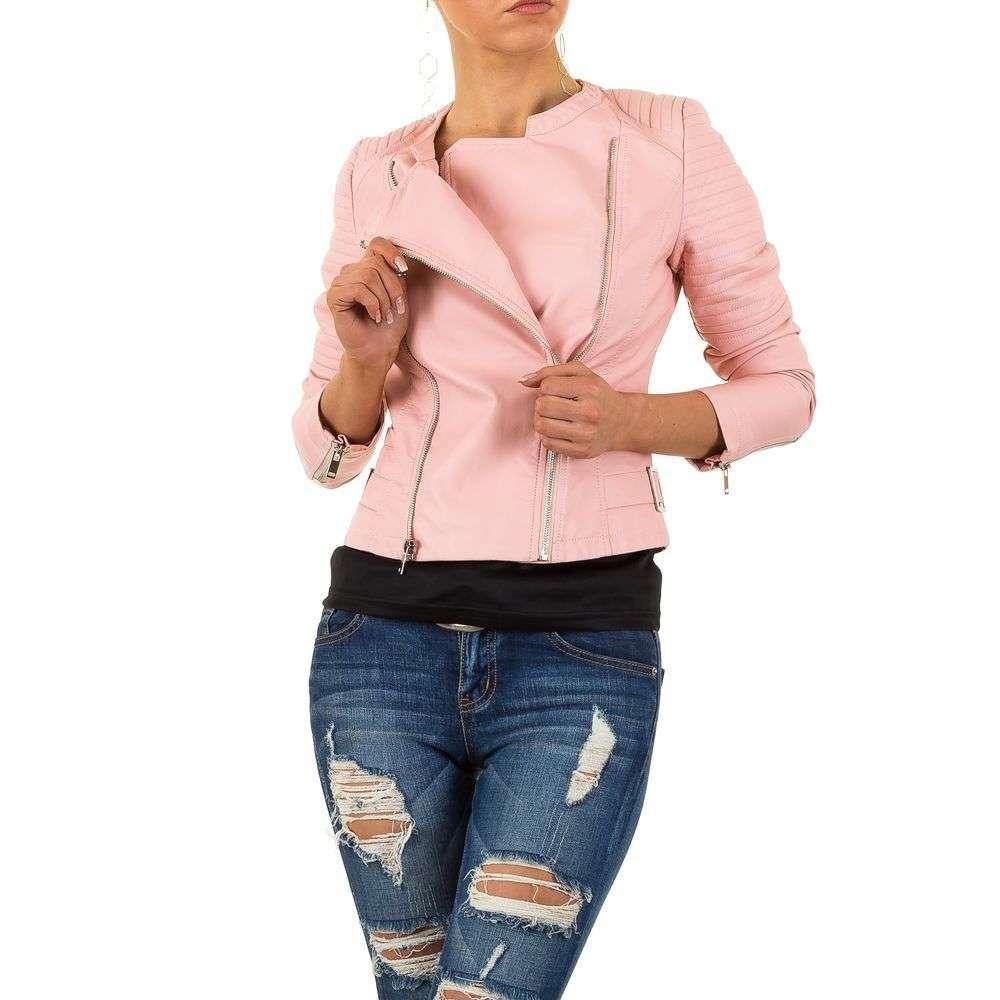 Женская куртка с двумя молниями Noemi Kent (Франция), Розовый