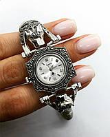 Часы из капельного серебра 925 My Jewels с тиграми и камнями марказитами, фото 1
