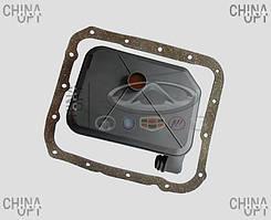 Фильтр АКПП, гидрофильтр коробки автомат, с прокладкой, Chery Tiggo [2.4, до 2010г.,AT], MD758691, SAT