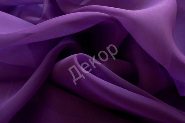 Шторный шифон Сиреневый (темный фиолет), вуаль, фото 2