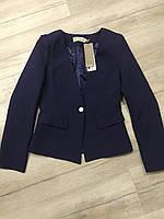 Пиджак синий деловой, жакет женский, пиджак с подкладкой, оригинальный пиджак