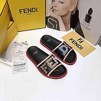 Стильные шлепанцы  'Fendi Mania' (реплика), фото 1