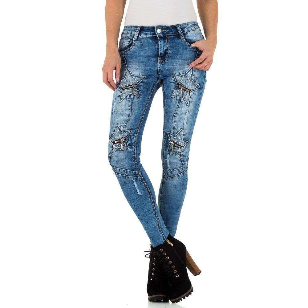Женские джинсы Original Denim - blue - KL-J-A821-синий