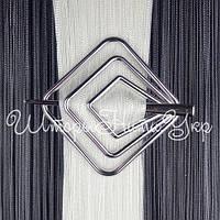 Заколка для штор нитей Квадрат №2 Серебро Глянец (хром)