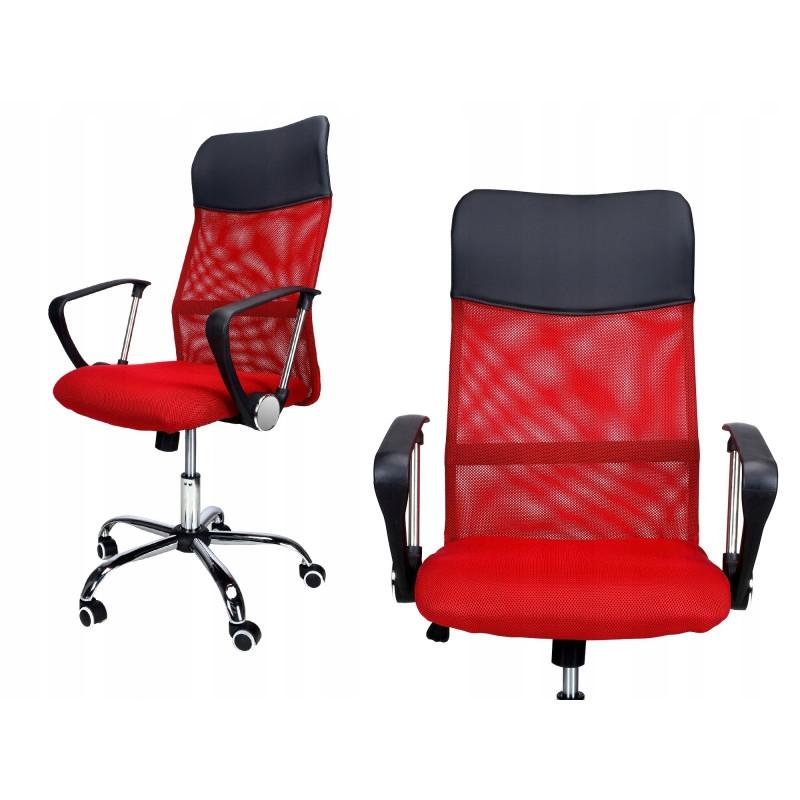 Кресло офисное Prestige. Цвет красный.
