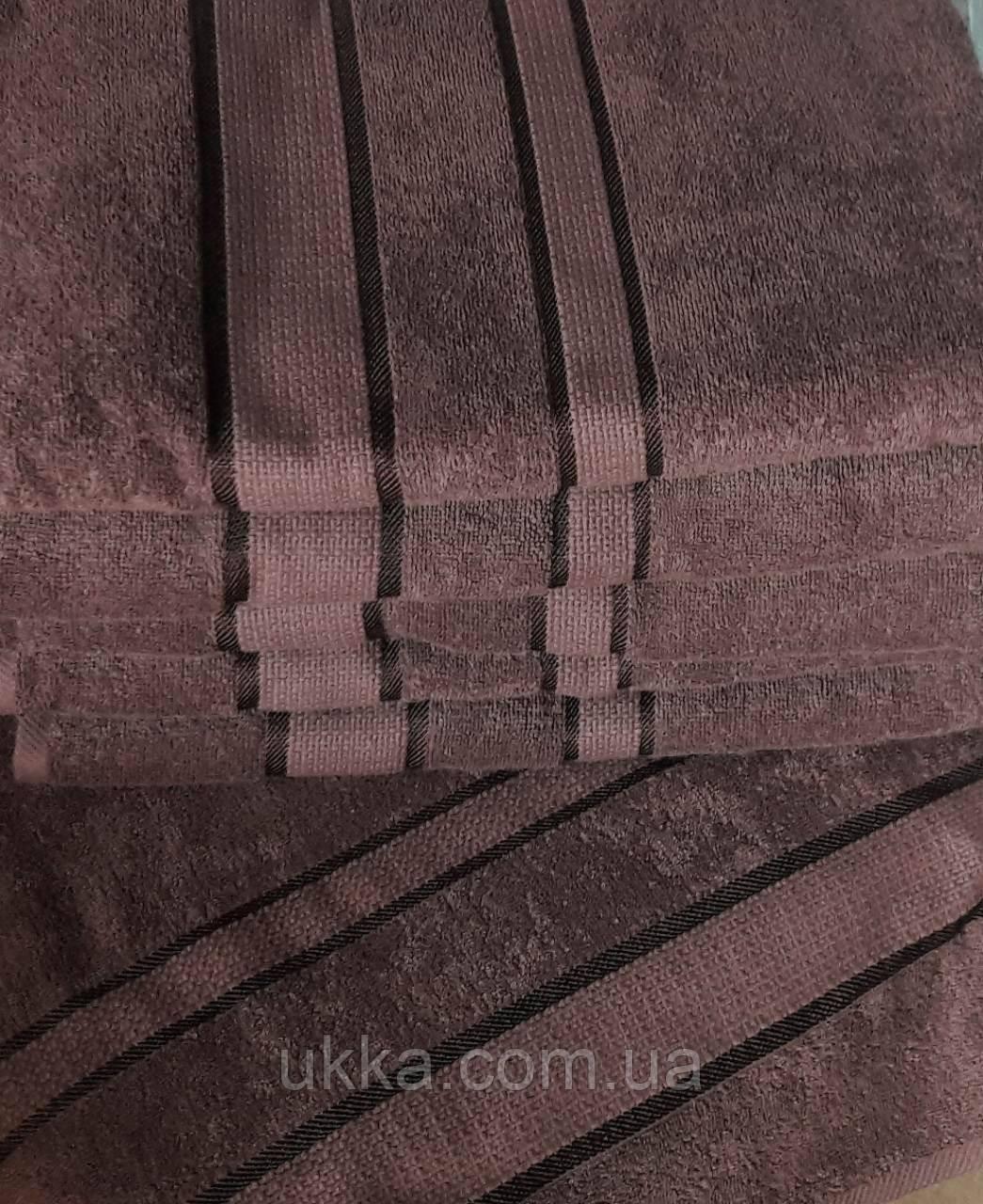 Махровое полотенце для лица 50х90 Капучино 100% хлопок Узбекистан