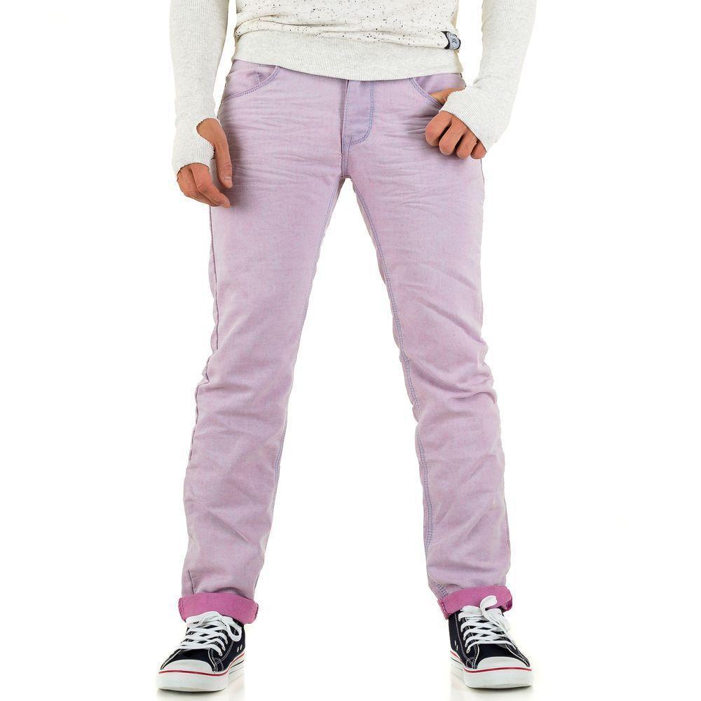 Джинсы мужские One Two Jeans (Европа), Лиловый